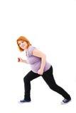 Schwangere Frau des Active Stockbild