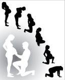 Schwangere Frau des Schattenbildes Lizenzfreie Stockfotografie