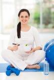 Schwangere Frau gesund Stockbild