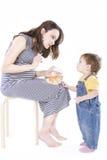 Schwangere Frau mit Aquarium Lizenzfreies Stockfoto