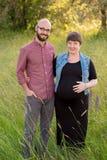 Schwangere Frau mit ihrem Ehemann Lizenzfreie Stockfotografie