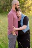 Schwangere Frau mit ihrem Ehemann Lizenzfreies Stockbild