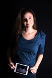 Schwangere Frau mit Scan Lizenzfreies Stockbild