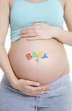 Schwangere Frau - SCHÄTZCHEN Lizenzfreie Stockfotos