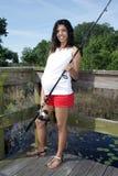 Schwangere Frauen-Fischen (1) Lizenzfreie Stockfotografie