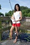 Schwangere Frauen-Fischen (2) Lizenzfreies Stockbild