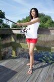 Schwangere Frauen-Fischen (4) Stockfotos