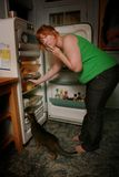 Schwangere Frauen-sehnende Nahrung stockfotos
