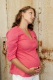 Schwangere junge Frau Lizenzfreie Stockfotos