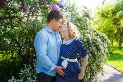 Schwangere Paare Stockbild
