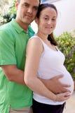 Schwangere Paare Stockfoto