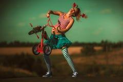 Schwangere Pippi Longstocking Stockbild