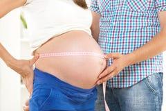 Schwangerer Bauch Stockfotografie