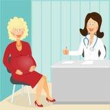 Schwangerer Besuchsdoktor 2 Stockbilder