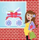 Schwangerer Käufer Stockbilder