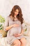 Schwangeres Mädchen Stockbilder