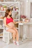 Schwangeres Mädchen Lizenzfreie Stockfotos