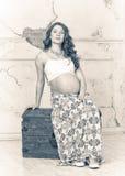 Schwangeres Mädchen Stockfotos