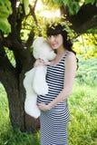 Schwangeres Mädchen Stockfoto
