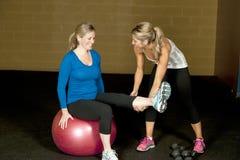 Schwangeres Trainings-Programm Lizenzfreies Stockfoto