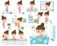Schwangeres Women_housekeeping lizenzfreie abbildung