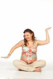 Schwangeres Yoga Stockfoto