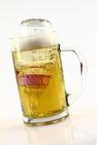 Schwangerschaft und alkoholisches Getränk Stockfotografie