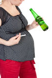Schwangerschaft und falsche Gewohnheiten Stockfoto