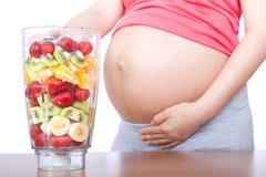 Schwangerschaft und Nahrung Lizenzfreies Stockfoto
