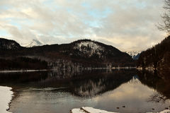 Schwansee lake in Bavaria. Germany. Royalty Free Stock Photos