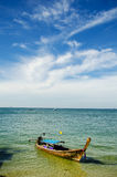 Schwanzboot Stockfoto