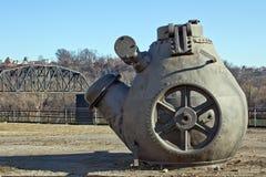 Schwartz-Oven & Spoorwegbrug stock afbeeldingen