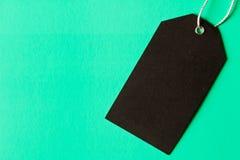 Schwarz leeren Sie Aufkleber Lokalisiert auf Türkishintergrund Lizenzfreies Stockbild