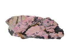 Schwarz-rosafarbenes Mineral Lizenzfreie Stockfotos