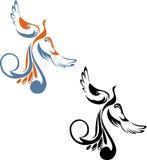 Schwarz- und Farbbild des Phoenix vektor abbildung