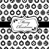 Schwarz- und Weihnachtsverpackung Stockfotos