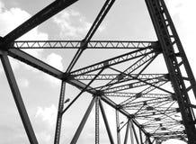Schwarz- und whitelstruktur der Brücke Lizenzfreie Stockfotografie