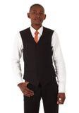Schwarzafrikaner-Geschäftsmann lizenzfreies stockfoto