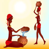 Schwarzafrikanerfrau Stockbilder