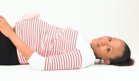 Schwarzafrikanerfrau schwangeres metisse Stockbilder
