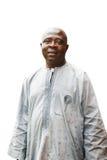 Schwarzafrikanermann auf weißem Hintergrund Stockbilder