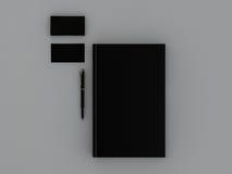 Schwarzbuch und Visitenkarte Lizenzfreies Stockfoto