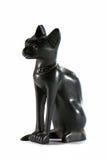 Schwarze ägyptische Katze Stockfotos
