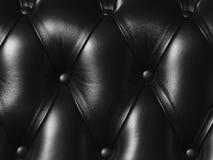Schwarze Abbildung des echten Leders Stockfoto