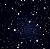 Schwarze abstrakte Nachtkosmischer Hintergrund mit Defocused Bokeh-twi Lizenzfreie Stockbilder