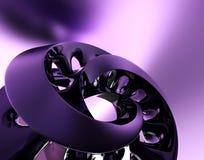 Schwarze Abstraktion auf dem violetten Hintergrund Lizenzfreie Stockfotografie