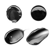 Schwarze Abstrichfarbe von kosmetischen Produkten Stockbilder