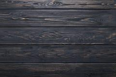 Schwarze alte rustikale hölzerne Planken Beschaffenheit oder Hintergrund Lizenzfreie Stockfotografie