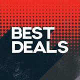 Schwarze Angebotesverkaufsplakat-Fahnenschablone Freitags beste mit Retro- Typografietext des langen Schattens und Tupfenhintergr Lizenzfreie Stockfotografie