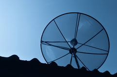 Schwarze Antennenkommunikation Stockbild